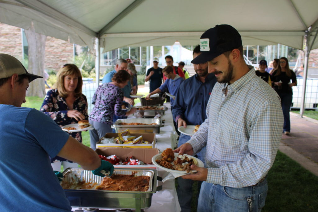 students, faculty, and staff gather for back-to-school picnic