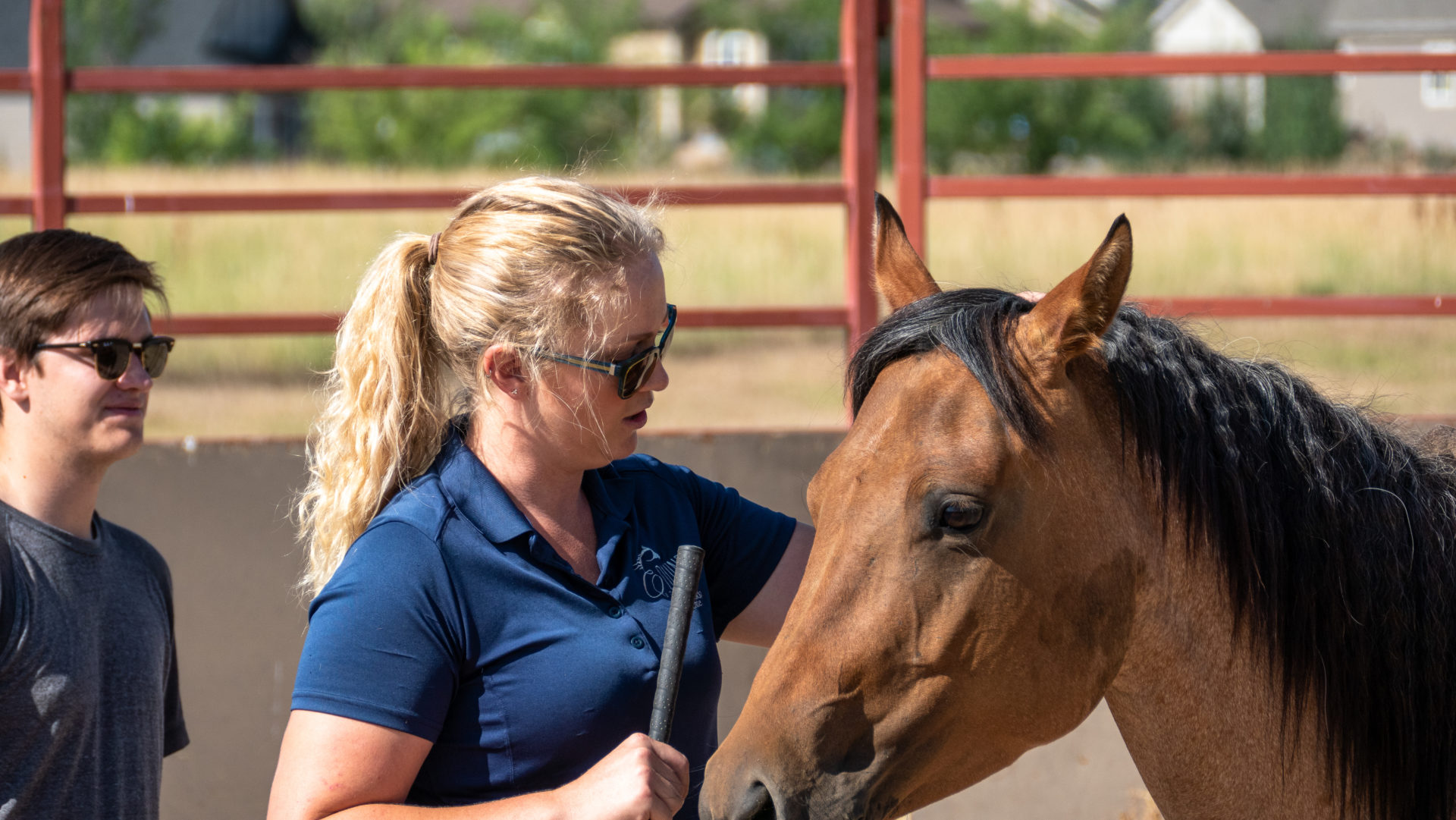 Kristen Martell and horse
